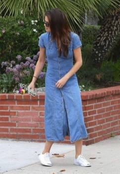 55 Casual Denim Dresses for Outing Ideas 17