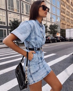 55 Casual Denim Dresses for Outing Ideas 2