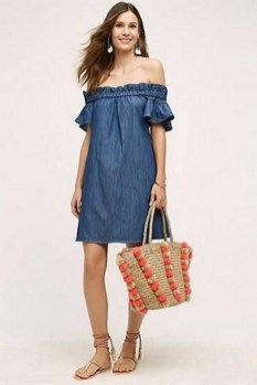 55 Casual Denim Dresses for Outing Ideas 21