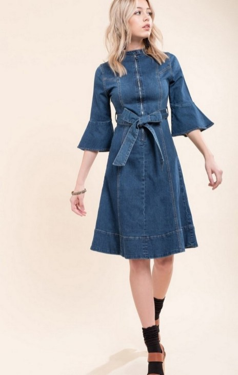 55 Casual Denim Dresses for Outing Ideas 25