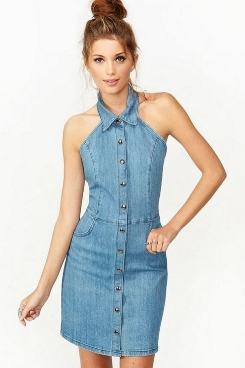 55 Casual Denim Dresses for Outing Ideas 26