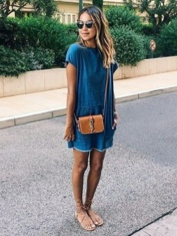 55 Casual Denim Dresses for Outing Ideas 27