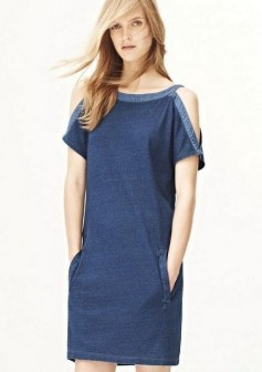 55 Casual Denim Dresses for Outing Ideas 28