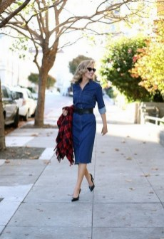 55 Casual Denim Dresses for Outing Ideas 30