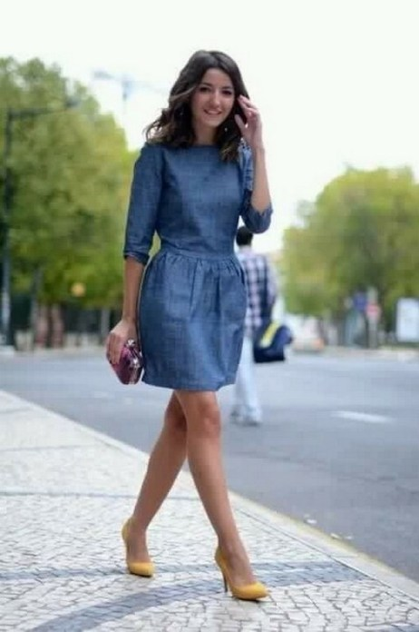 55 Casual Denim Dresses for Outing Ideas 39