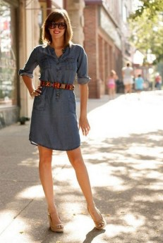 55 Casual Denim Dresses for Outing Ideas 40