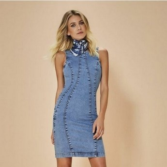 55 Casual Denim Dresses for Outing Ideas 42