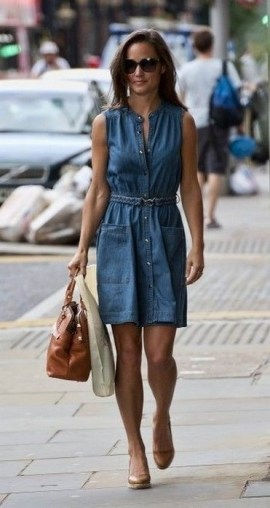 55 Casual Denim Dresses for Outing Ideas 45
