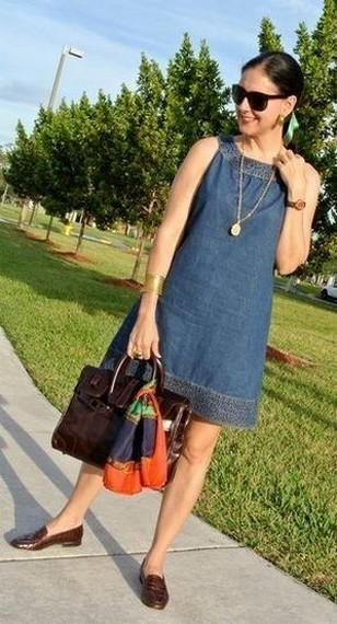 55 Casual Denim Dresses for Outing Ideas 53