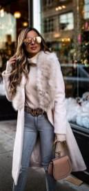80 Fashionable Women Faux Fur Coats Look 6