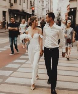 80 Simple and Glam Jumpsuit Wedding Dresses Ideas 11