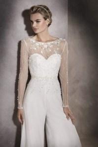80 Simple and Glam Jumpsuit Wedding Dresses Ideas 13