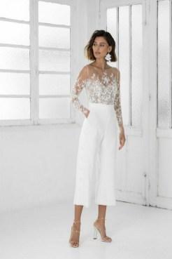 80 Simple and Glam Jumpsuit Wedding Dresses Ideas 14