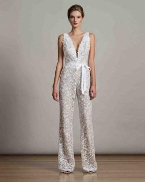 80 Simple and Glam Jumpsuit Wedding Dresses Ideas 15