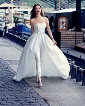 80 Simple and Glam Jumpsuit Wedding Dresses Ideas 20