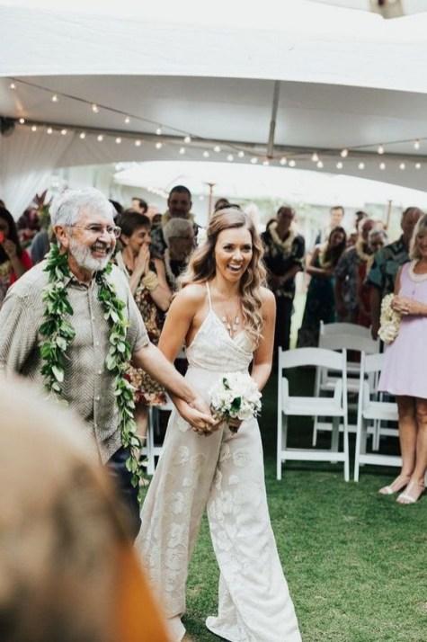 80 Simple and Glam Jumpsuit Wedding Dresses Ideas 21
