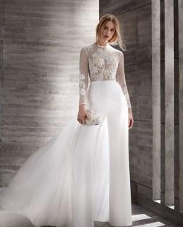 80 Simple and Glam Jumpsuit Wedding Dresses Ideas 35