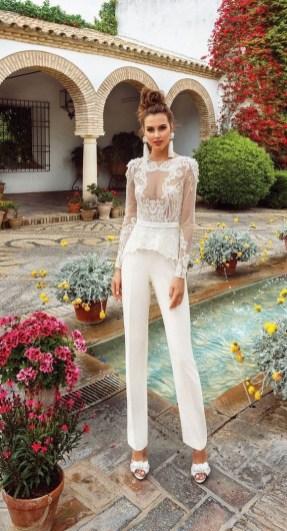 80 Simple and Glam Jumpsuit Wedding Dresses Ideas 36