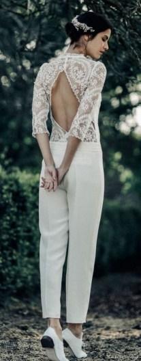 80 Simple and Glam Jumpsuit Wedding Dresses Ideas 39
