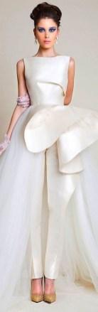 80 Simple and Glam Jumpsuit Wedding Dresses Ideas 51