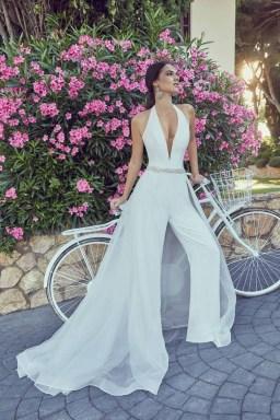 80 Simple and Glam Jumpsuit Wedding Dresses Ideas 54