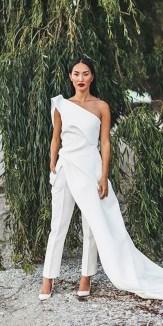 80 Simple and Glam Jumpsuit Wedding Dresses Ideas 55