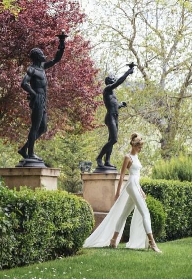 80 Simple and Glam Jumpsuit Wedding Dresses Ideas 58