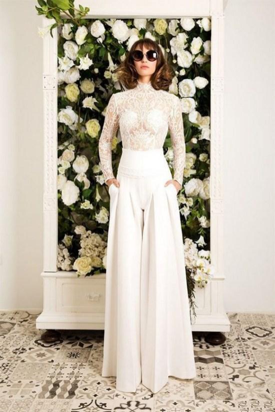 80 Simple and Glam Jumpsuit Wedding Dresses Ideas 59