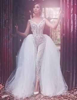 80 Simple and Glam Jumpsuit Wedding Dresses Ideas 6