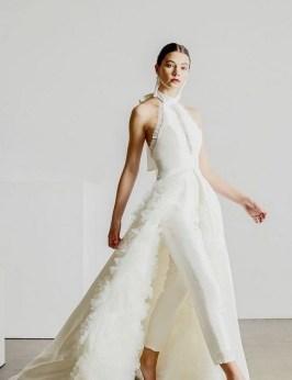 80 Simple and Glam Jumpsuit Wedding Dresses Ideas 60