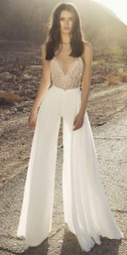 80 Simple and Glam Jumpsuit Wedding Dresses Ideas 62