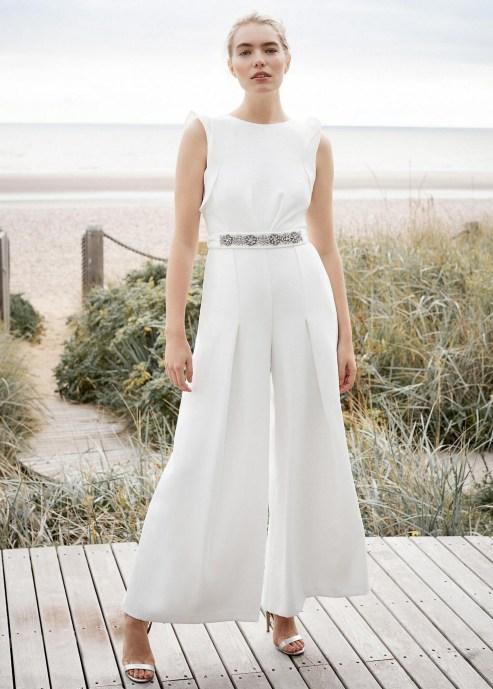 80 Simple and Glam Jumpsuit Wedding Dresses Ideas 68