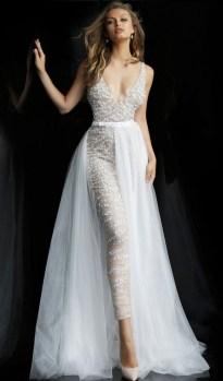 80 Simple and Glam Jumpsuit Wedding Dresses Ideas 69