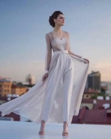 80 Simple and Glam Jumpsuit Wedding Dresses Ideas 72