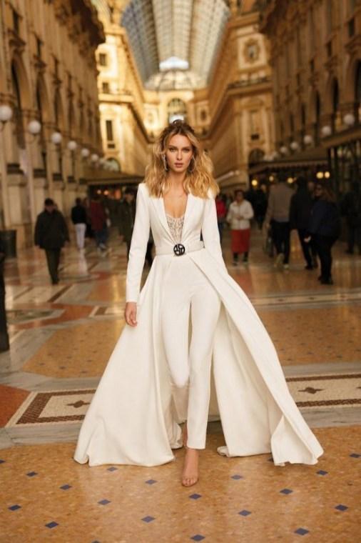 80 Simple and Glam Jumpsuit Wedding Dresses Ideas 75