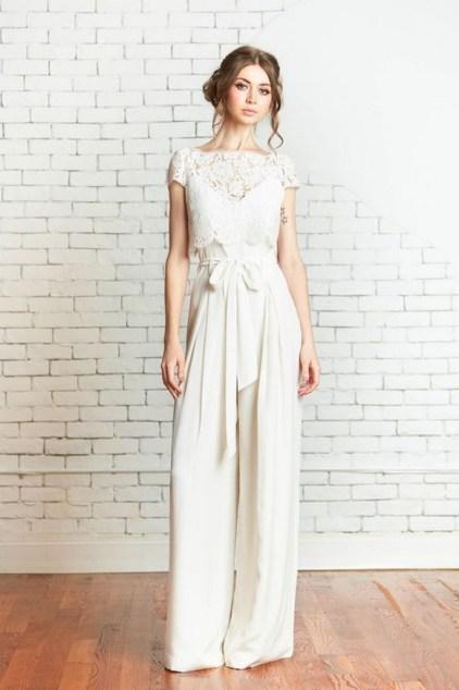 80 Simple and Glam Jumpsuit Wedding Dresses Ideas 78
