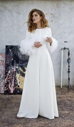 80 Simple and Glam Jumpsuit Wedding Dresses Ideas 8