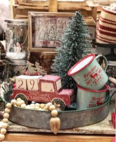 How Stunning Rustic Christmas Decorations Ideas 51