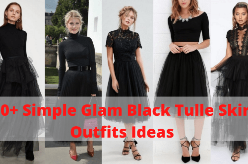Simple Glam Black Tulle Skirt Outfits Ideas