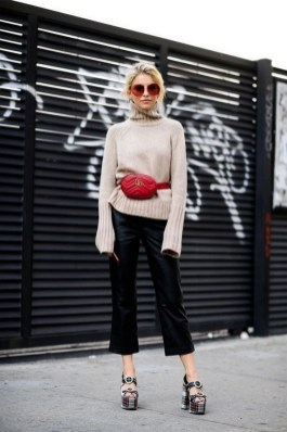 40 How to Wear Waist Bags Ideas 17