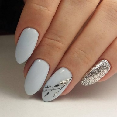 47 Simple Nail Art Design for This Winter Season Inspiration 20
