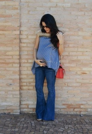 50 Comfy Jeans Outfits For Pregnant Women Ideas 33