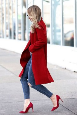 50 Modern Look Jeans and Red Shoes Outfit Ideas 34