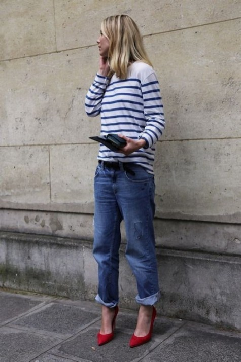 50 Modern Look Jeans and Red Shoes Outfit Ideas 45