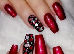 50 Nail Art Ideas for Valentines Day You Need to See 08
