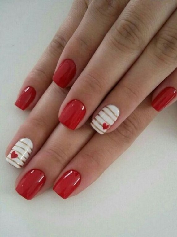 50 Nail Art Ideas for Valentines Day You Need to See 30