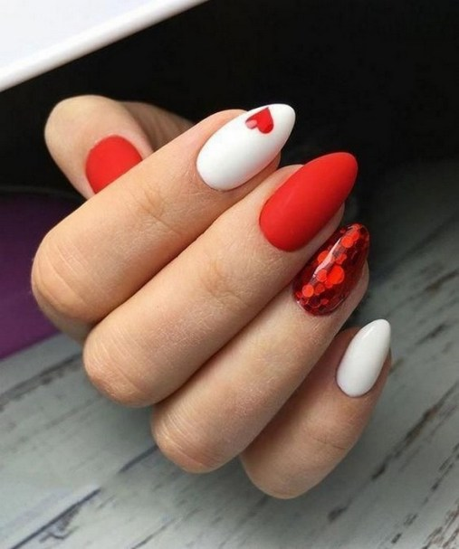 50 Nail Art Ideas for Valentines Day You Need to See 40
