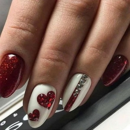 50 Nail Art Ideas for Valentines Day You Need to See 43