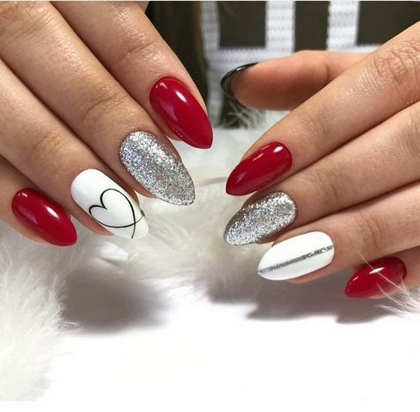50 Nail Art Ideas for Valentines Day You Need to See 61
