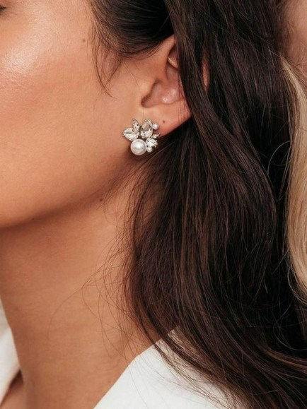 50 Stud Earring for Wedding Brides Ideas 53